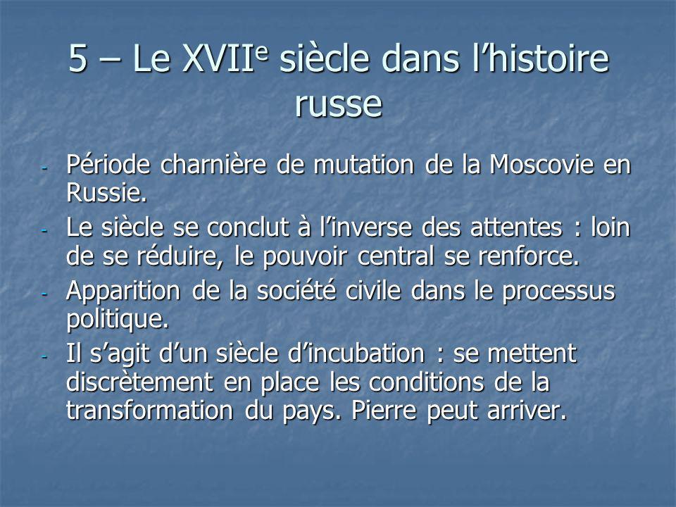 5 – Le XVIIe siècle dans l'histoire russe