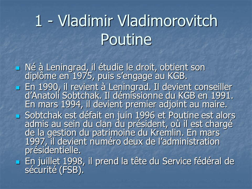 1 - Vladimir Vladimorovitch Poutine
