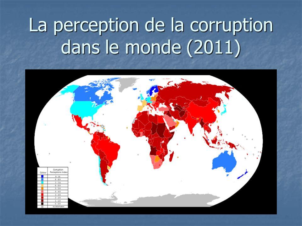 La perception de la corruption dans le monde (2011)