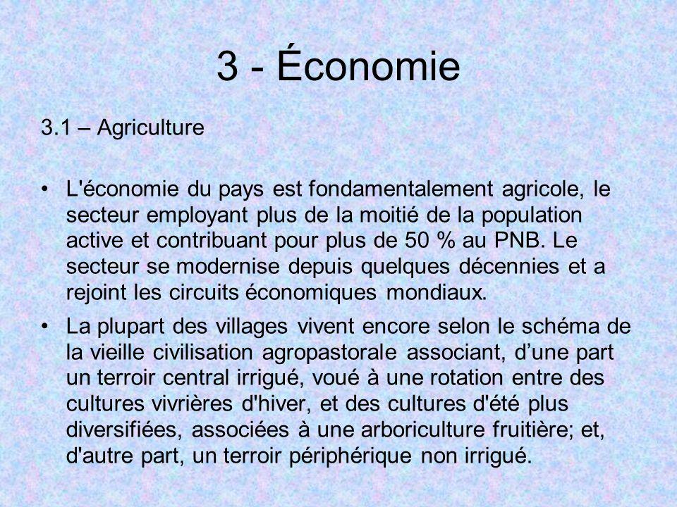 3 - Économie 3.1 – Agriculture