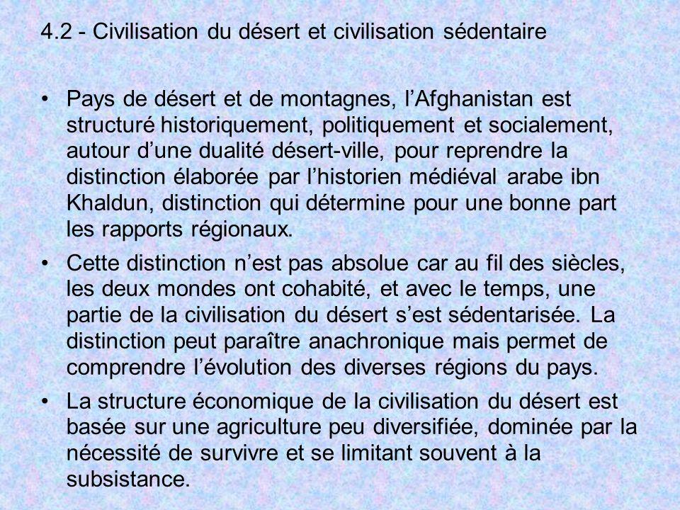 4.2 - Civilisation du désert et civilisation sédentaire