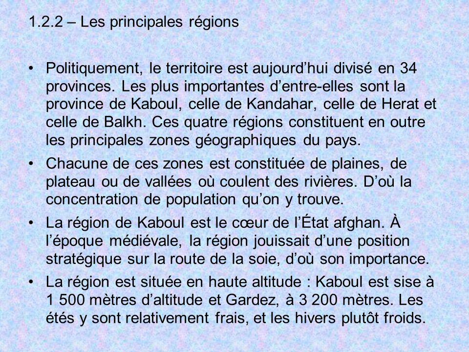 1.2.2 – Les principales régions