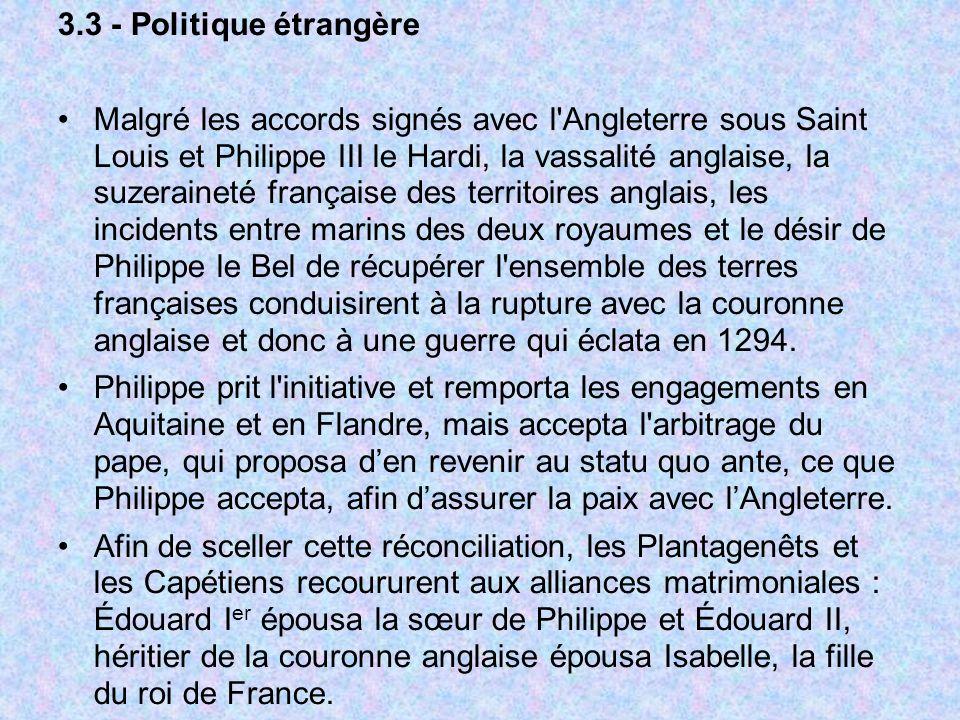 3.3 - Politique étrangère