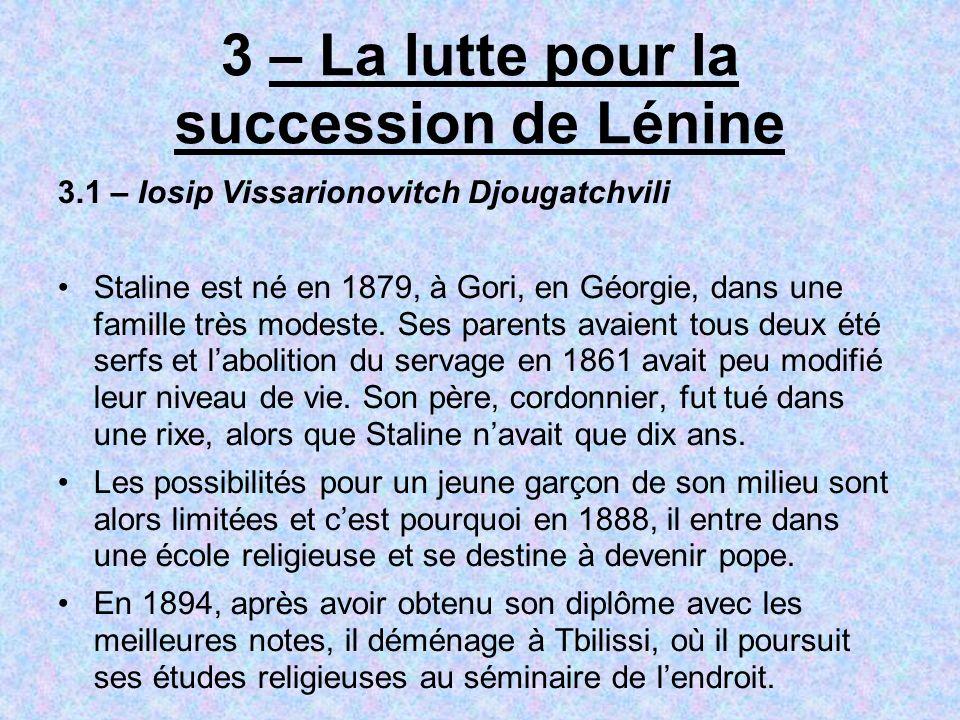 3 – La lutte pour la succession de Lénine