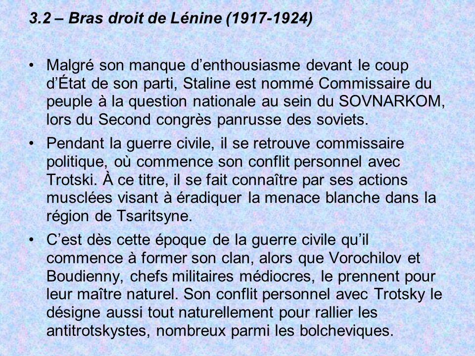 3.2 – Bras droit de Lénine (1917-1924)