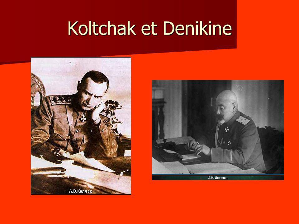 Koltchak et Denikine