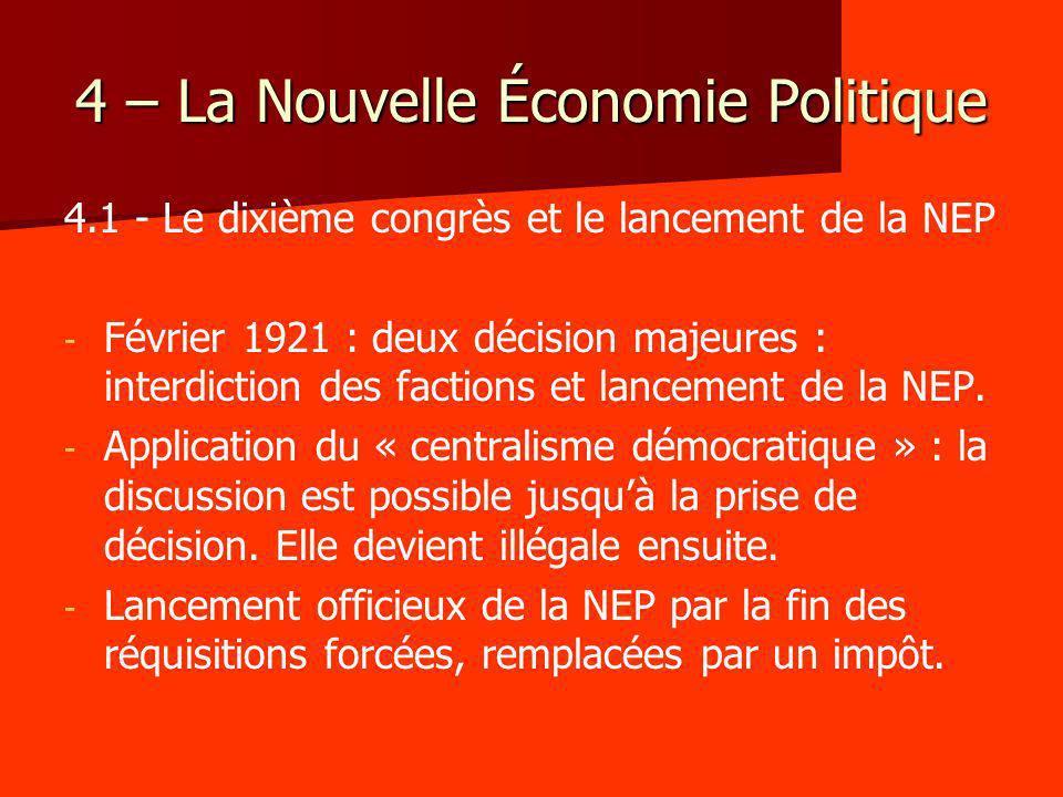 4 – La Nouvelle Économie Politique