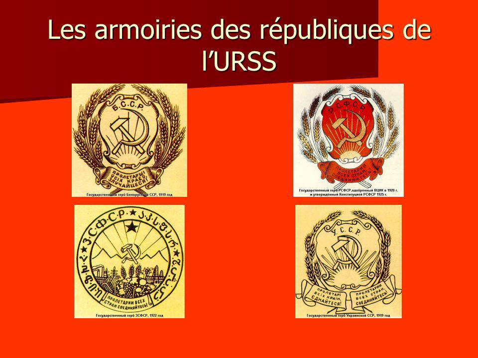 Les armoiries des républiques de l'URSS
