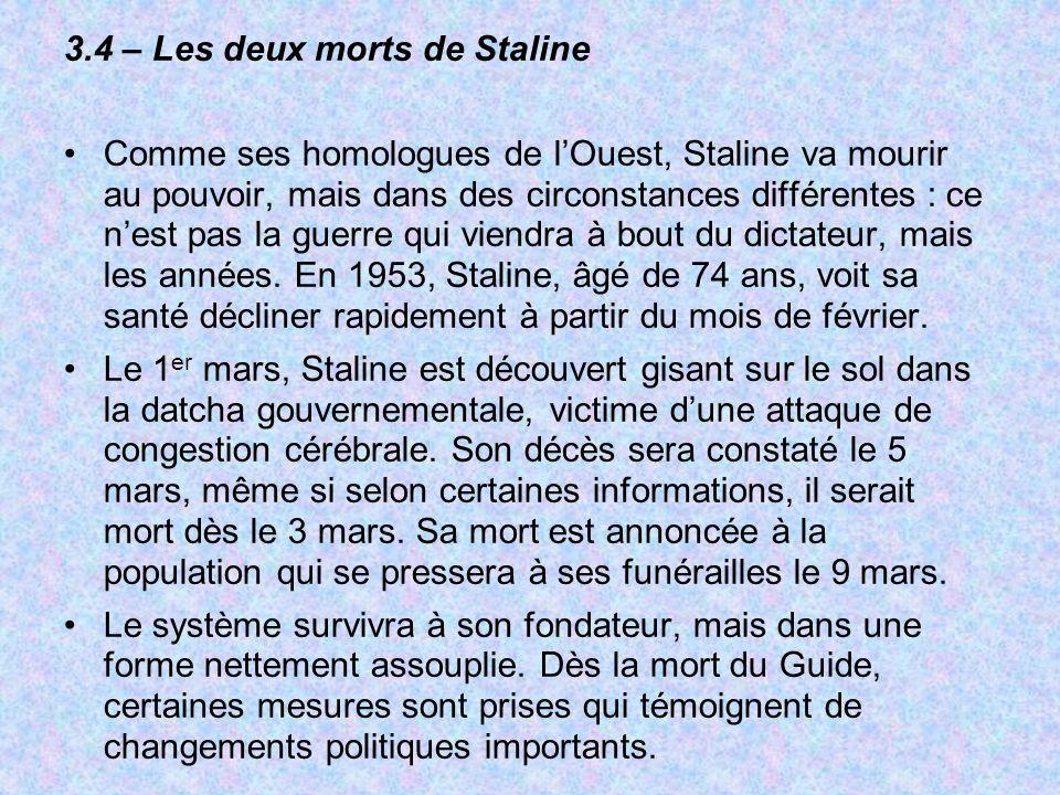 3.4 – Les deux morts de Staline