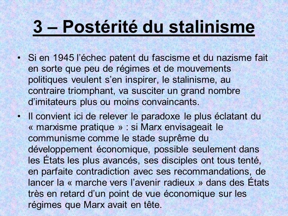 3 – Postérité du stalinisme