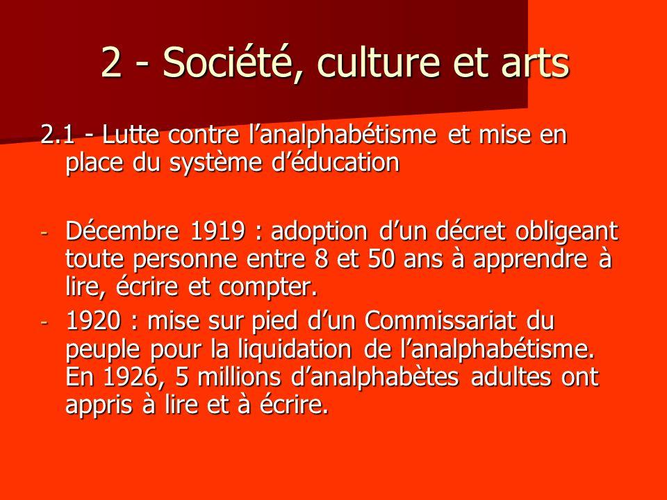2 - Société, culture et arts