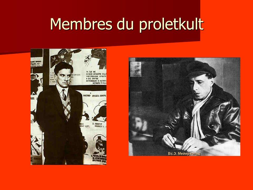 Membres du proletkult