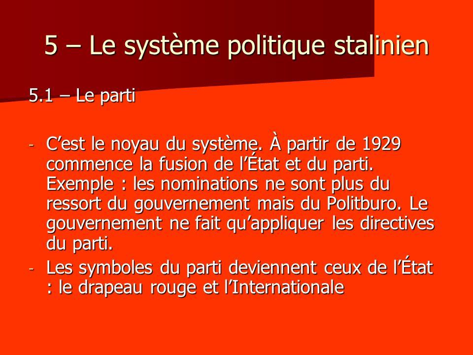 5 – Le système politique stalinien