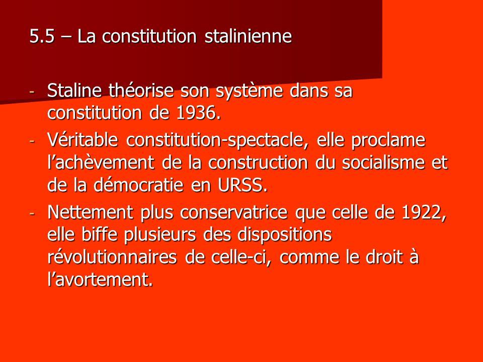 5.5 – La constitution stalinienne