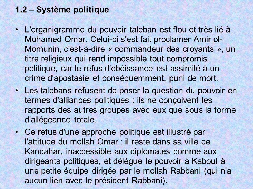 1.2 – Système politique