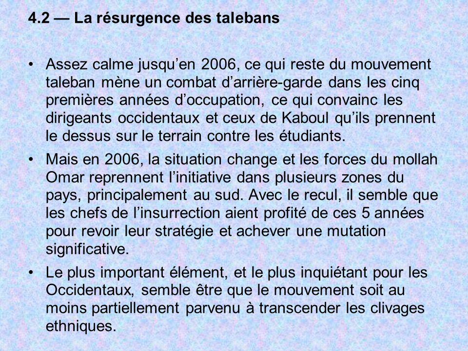 4.2 — La résurgence des talebans