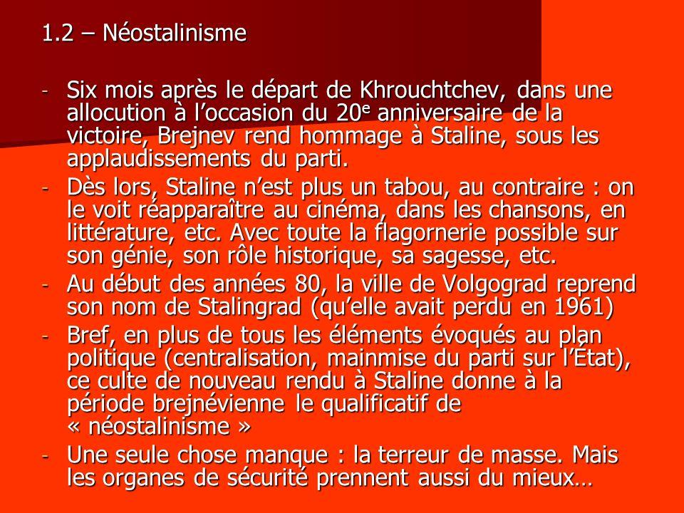 1.2 – Néostalinisme