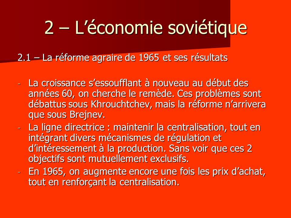 2 – L'économie soviétique