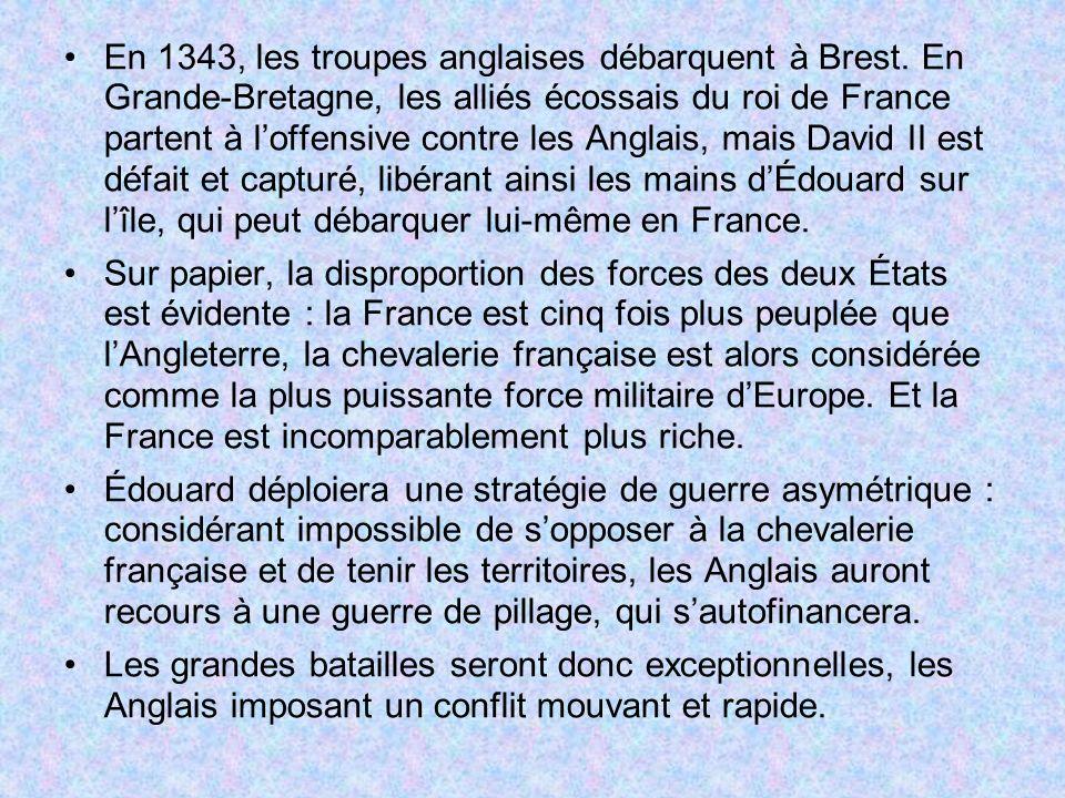 En 1343, les troupes anglaises débarquent à Brest