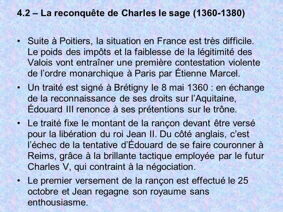 4.2 – La reconquête de Charles le sage (1360-1380)