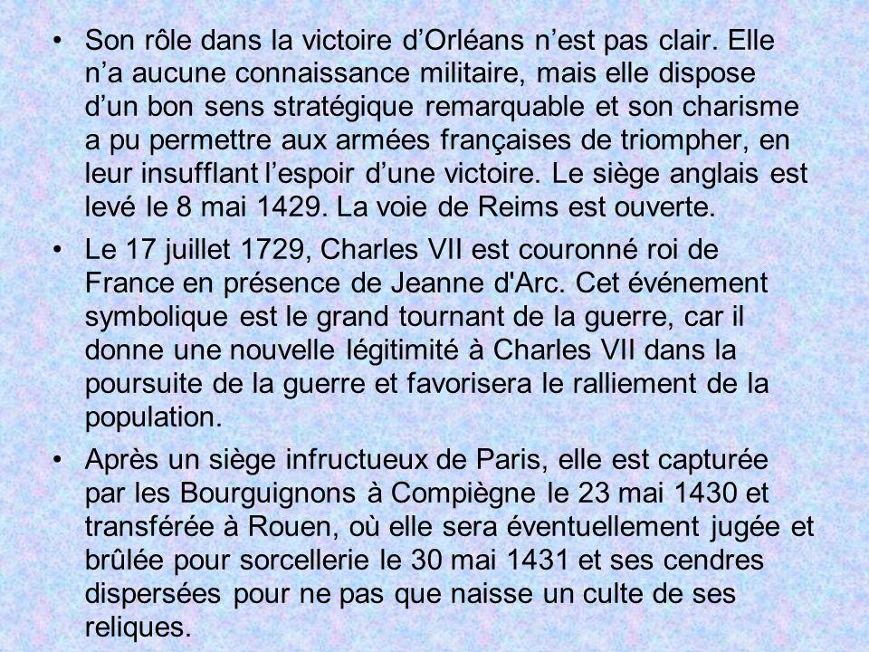 Son rôle dans la victoire d'Orléans n'est pas clair