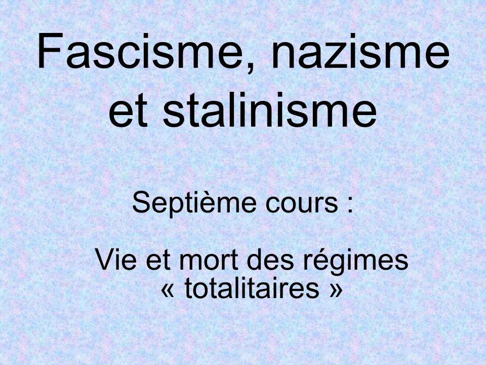 Fascisme, nazisme et stalinisme