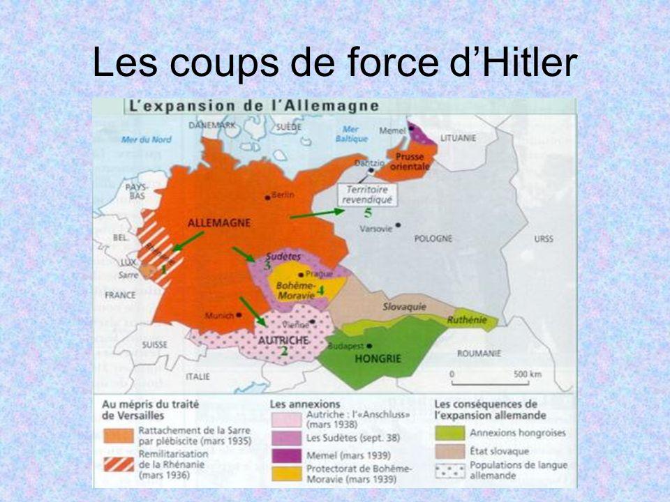 Les coups de force d'Hitler