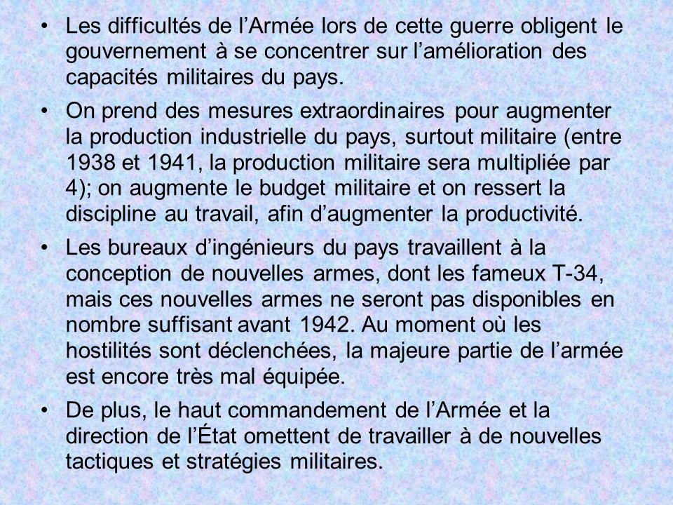 Les difficultés de l'Armée lors de cette guerre obligent le gouvernement à se concentrer sur l'amélioration des capacités militaires du pays.
