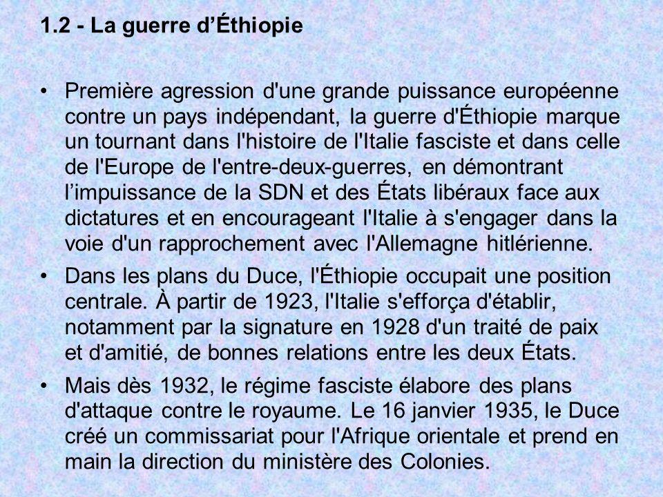 1.2 - La guerre d'Éthiopie