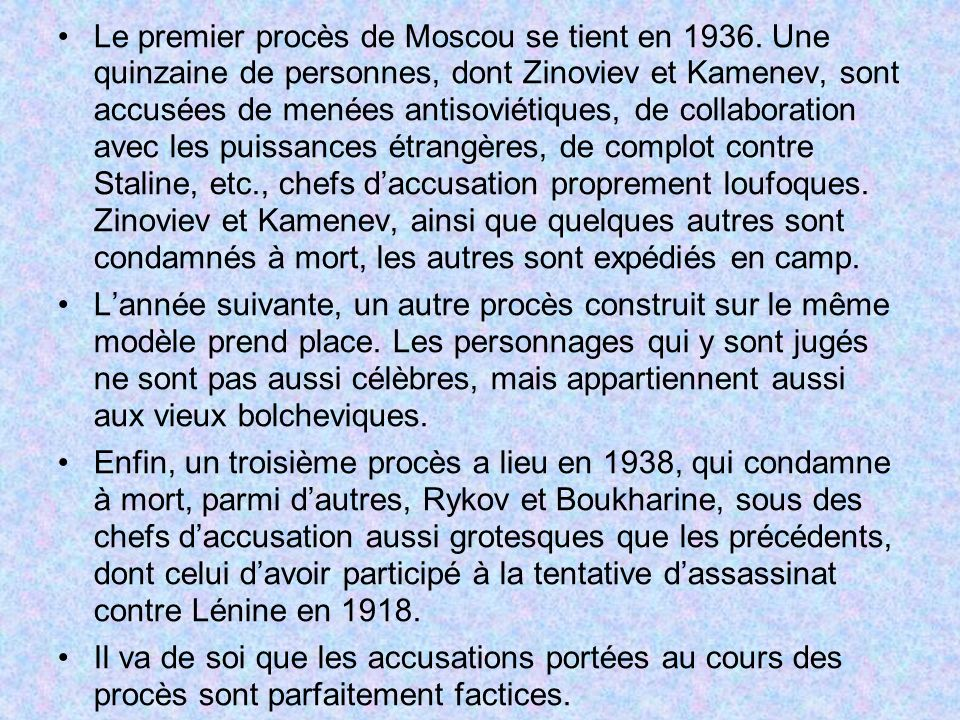 Le premier procès de Moscou se tient en 1936