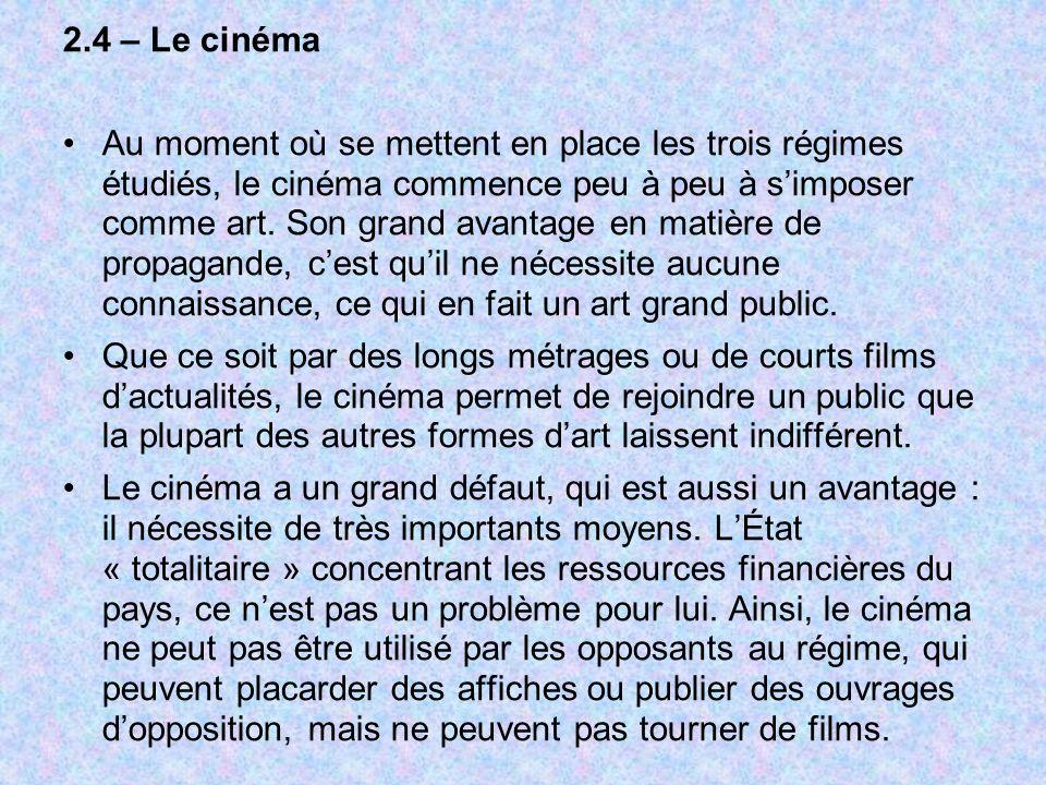 2.4 – Le cinéma