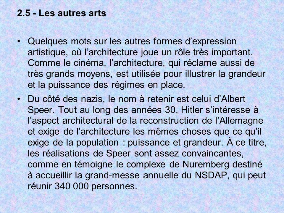 2.5 - Les autres arts