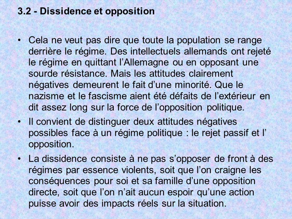 3.2 - Dissidence et opposition