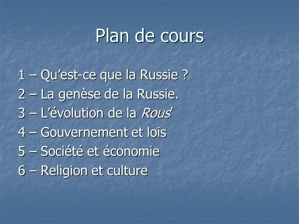 Plan de cours 1 – Qu'est-ce que la Russie