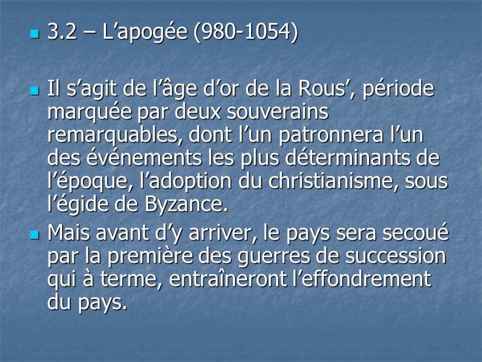 3.2 – L'apogée (980-1054)