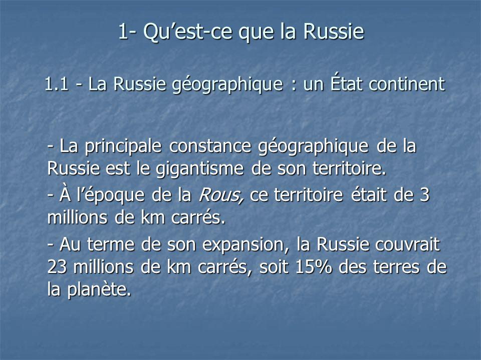 1- Qu'est-ce que la Russie 1