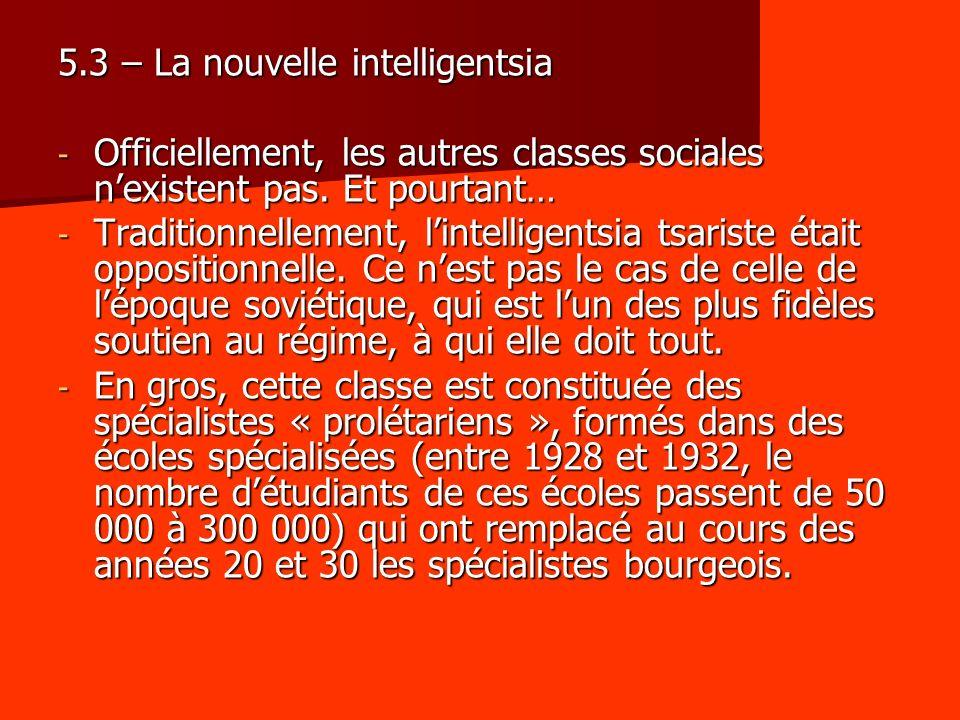 5.3 – La nouvelle intelligentsia