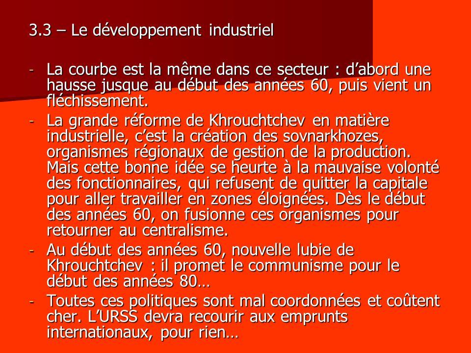 3.3 – Le développement industriel