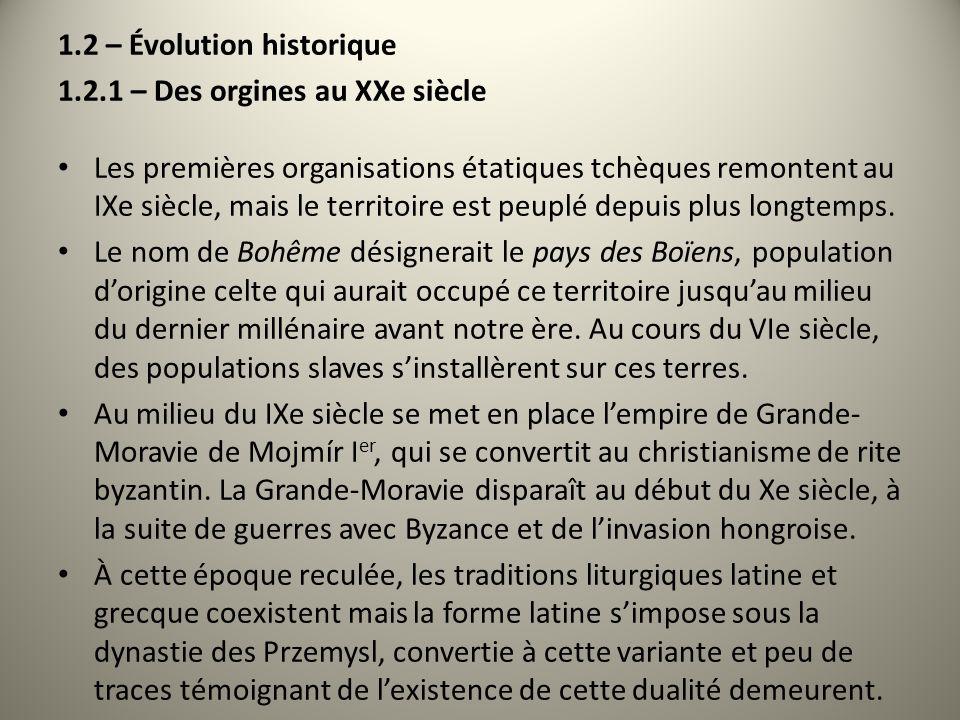 1.2 – Évolution historique