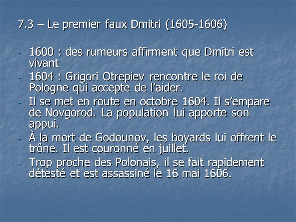 7.3 – Le premier faux Dmitri (1605-1606)