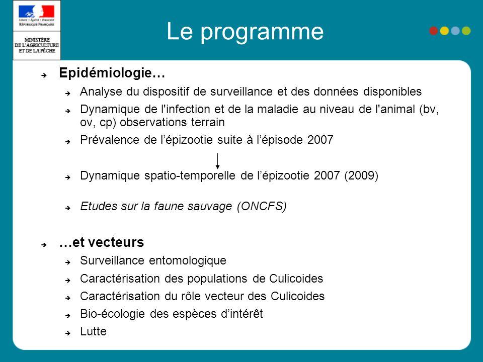 Le programme Epidémiologie… …et vecteurs