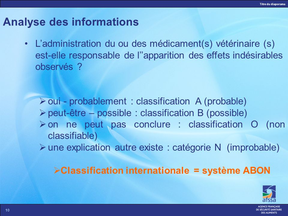 Analyse des informations