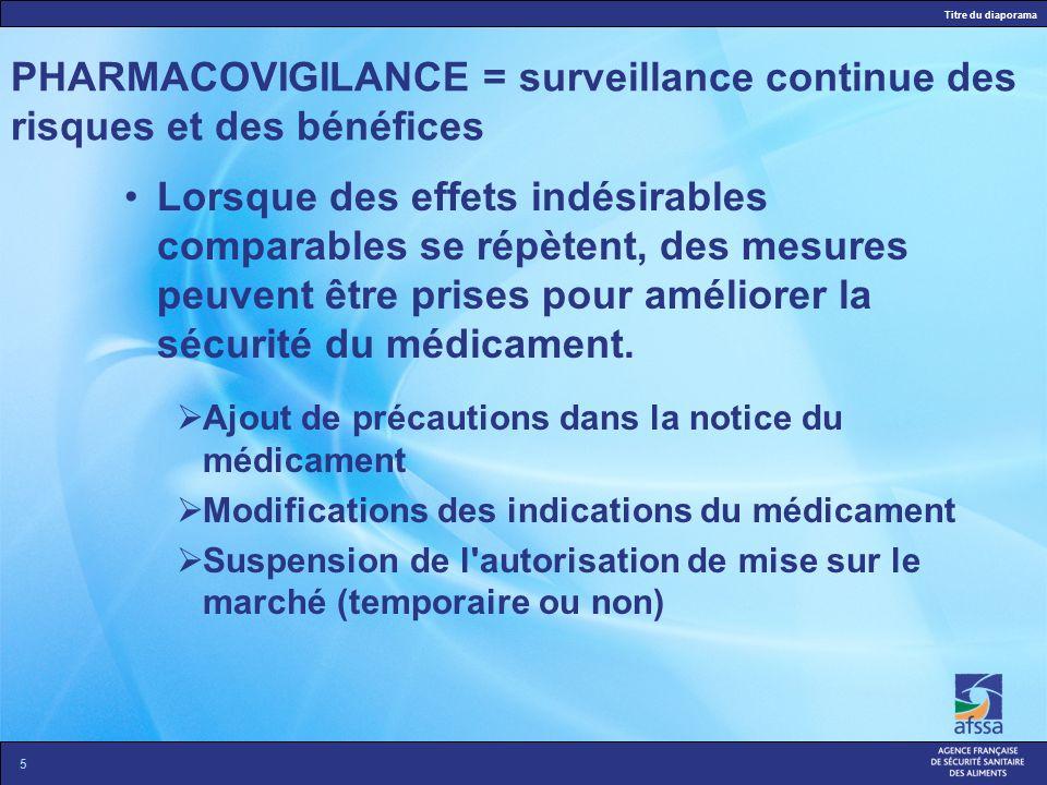 PHARMACOVIGILANCE = surveillance continue des risques et des bénéfices