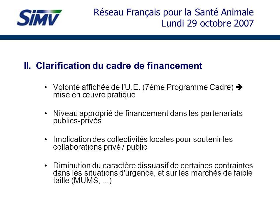 Réseau Français pour la Santé Animale Lundi 29 octobre 2007