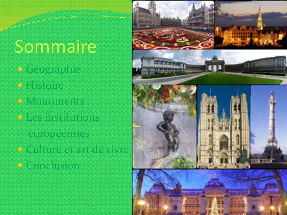 Sommaire Géographie Histoire Monuments Les institutions européennes