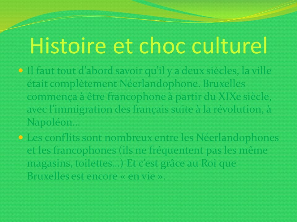 Histoire et choc culturel