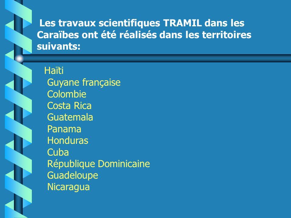 Les travaux scientifiques TRAMIL dans les Caraïbes ont été réalisés dans les territoires suivants: