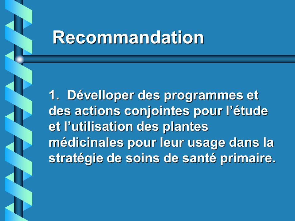 Recommandation
