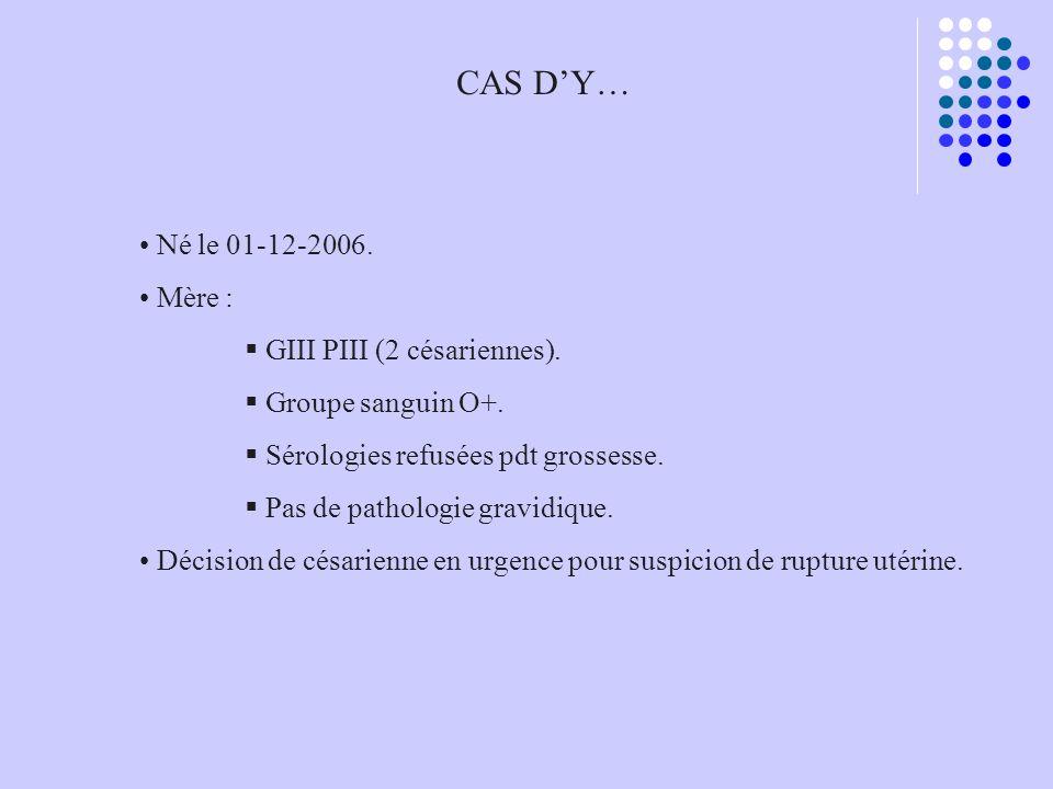 CAS D'Y… Né le 01-12-2006. Mère : GIII PIII (2 césariennes).