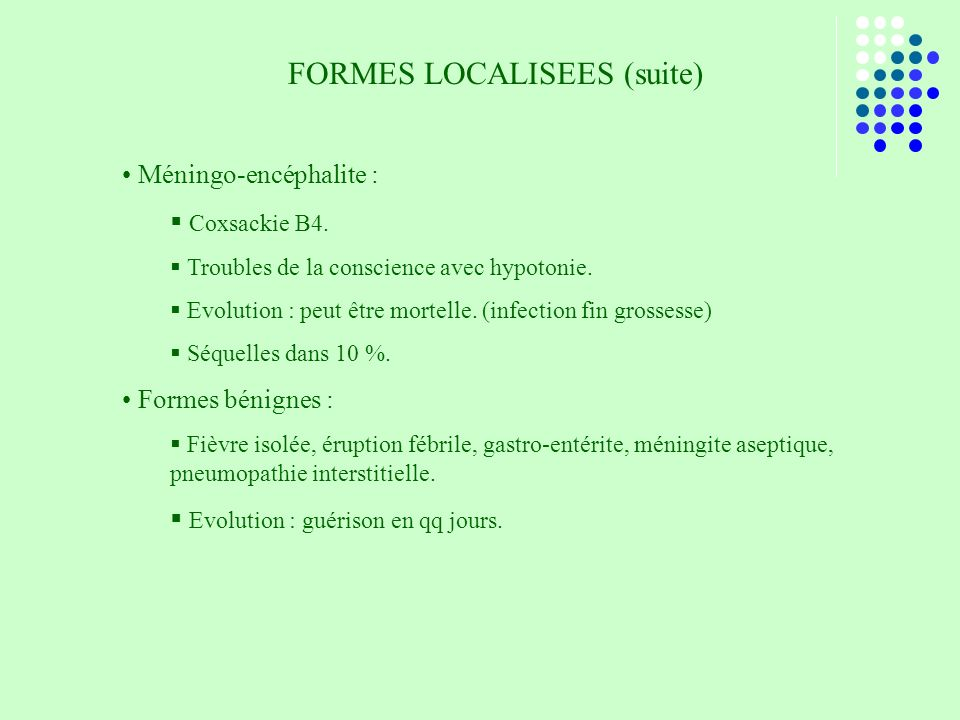 FORMES LOCALISEES (suite)